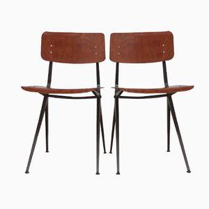 Sedie con gambe a compasso, Olanda, anni '60, set di 2