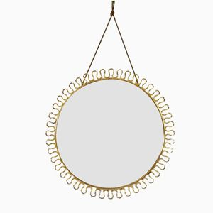 Vintage Brass Mirror by Josef Frank for Svenskt Tenn, 1950s
