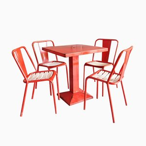 Industrial Dining Set by Xavier Pauchard for Tolix, 1950s