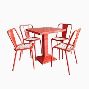 Set da pranzo industriale di Xavier Pauchard per Tolix, anni '50