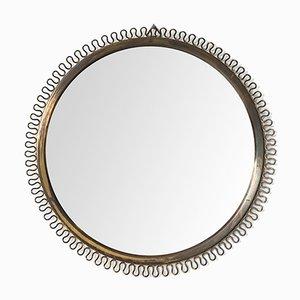 Specchio in ottone di Josef Frank per Svenskt Tenn, anni '50