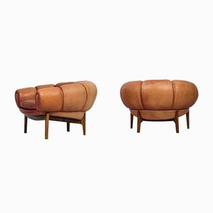 Croissant Easy Chairs by Illum Wikkelsø for Holger Christiansen, Set of 2