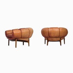 Croissant Sessel von Illum Wikkelsø für Holger Christiansen, 2er Set