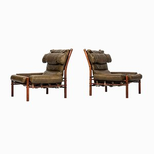 Chaises Inca par Arne Norell, Set de 2