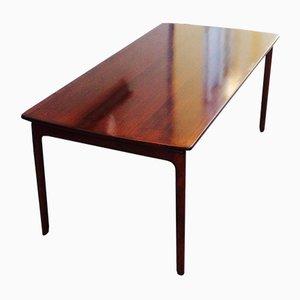 Dänischer Mahagoni Couchtisch mit Schwebender Tischplatte von Ole Wanscher für P. Jeppesen, 1960er