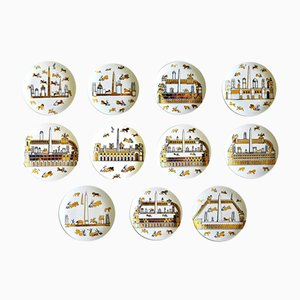 Anfiteatro Plates by Piero Fornasetti, 1960s, Set of 11