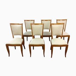 Chaises de Salle à Manger Art Déco, France, 1930s, Set de 6