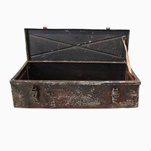 Caja de munición vintage de acero