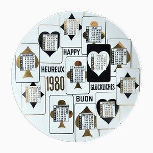 1980 Calendar Plate by Piero Fornasetti