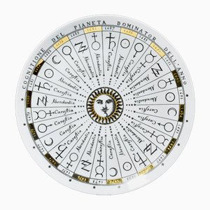 Astronomy Plate from the Cognitione Del Pianeta Dominator Dell'Anno Series by Piero Fornasetti, 1955