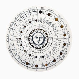 No. 5 Astronomici Plate by Piero Fornasetti, 1955