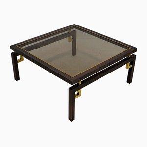 Table Vintage en Bronze Brossé et en Cuivre de Belgochrom