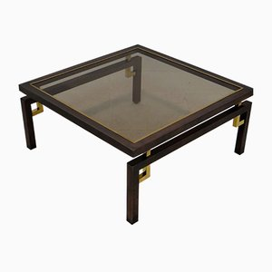Vintage Brushed Bronze & Copper Coffee Table from Belgochrom