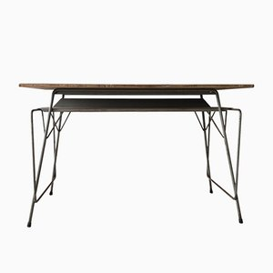 Belgian Industrial Desk by Willy van der Meeren for Tubax, 1950s