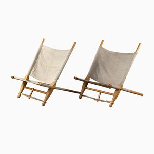 Danish Saw Lounge Chairs by Ole Gjerløv-Knudsen for Cado, 1960s, Set of 2