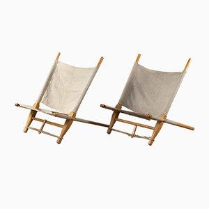 Poltrone sedie a sdraio di Ole Gjerløv-Knudsen per Cado, Danimarca, anni '60, set di 2