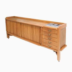 French Natural Oak Sideboard by Guillaume et Chambron, 1960s
