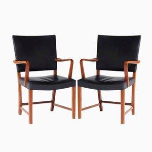 Chaises Rouges par Kaare Klint pour C.B. Hansen, 1950s, Set de 2
