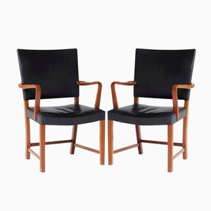Red Chairs by Kaare Klint for C.B. Hansen, 1950s, Set of 2
