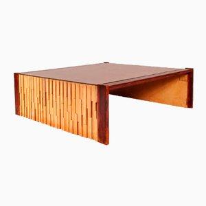 Mesa de centro brasileña grande de madera dura de Percival Lafer, años 60