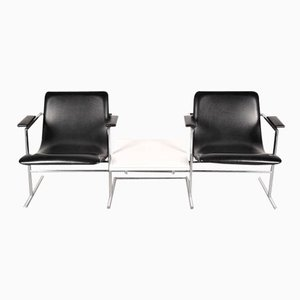 Belgian Two-Seater Bench with Table by Rudi Verelst for Novalux, 1960s