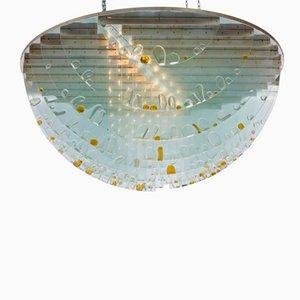 Lámpara de techo checa grande de Ernest Krejza & Milos Kramolis, años 60