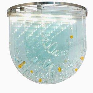 Tschechische Glas Deckenlampe von Ernest Krejza & Milos Kramolis, 1960er