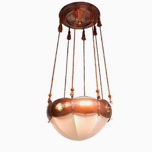 Lámpara colgante holandesa de Winkelman & Van der Bijl, años 20