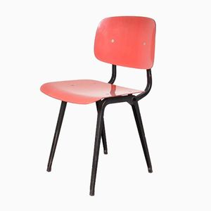 Red Revolt Stühle von Friso Kramer für Ahrend de Cirkel, 1950er, 4er Set