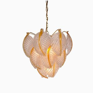 Italian Murano Glass Pendant Lamp from Mazzega, 1960s