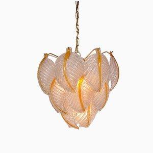 Lámpara colgante italiana de cristal de Murano de Mazzega, años 60