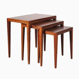 Tavolini a incastro di Severin Hansen per Haslev Mobelsnedkeri, Danimarca, anni '60