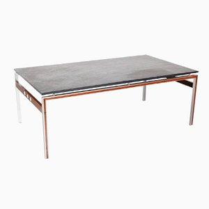 Table Basse avec Plateau en Pierre Ardoise, Danemark,1960s
