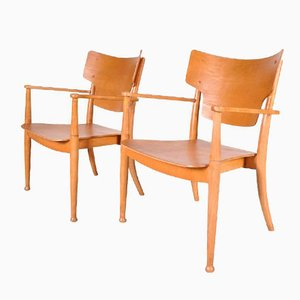 Danish Portex Easy Chairs by Peter Hvidt and Orla Mølgaard-Nielsen, 1940s, Set of 2