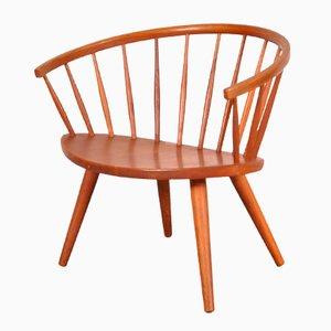Easy Chair Modèle Arka en Chêne par Yngve Ekström pour Stolab, 1950s