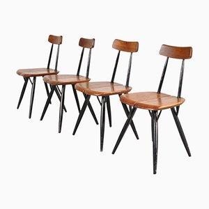 Pirkka Dining Chairs by Ilmari Tapiovaara for Laukaan Puu, 1950s, Set of 4