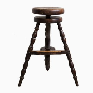 Factory Stool with Wide Footrest, 1880s