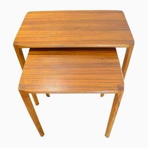 Teak Nesting Tables by Rex Raab for Wilhelm Renz, 1960s