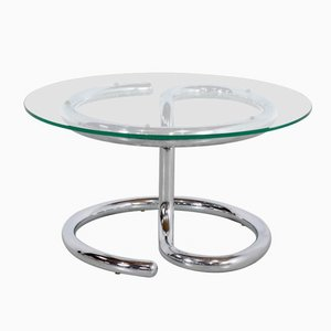Table Anaconda en Verre et en Chrome par Paul Tuttle, 1970s