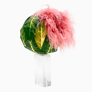 Lampada da tavolo Cabbage Perpex vintage