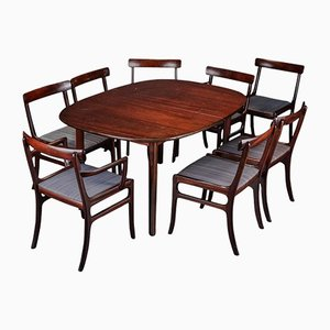 Rungstedlund Dining Table and Eight Chairs by Ole Wanscher for Poul Jeppesen