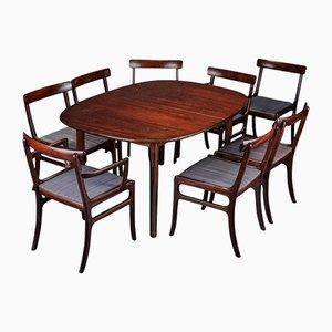 Tavolo da pranzo e otto sedie Rungstedlund di Ole Wanscher per Poul Jeppesen