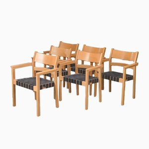 Danish GE881 Armchairs by Hans J. Wegner for Getama, 1988, Set of 6