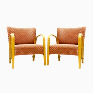 Mid-Century French Lounge Chairs by Hugues Steiner for Steiner, 1948, Set of 2