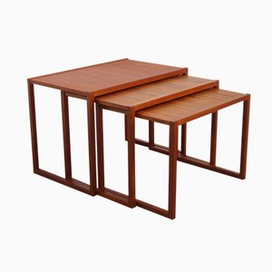 Danish Teak Cubic Nesting Tables, 1960s