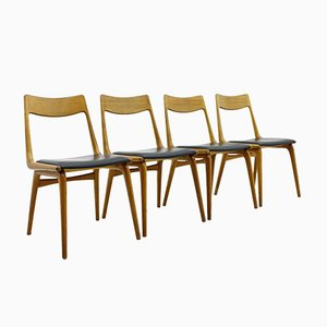 Chaises de Salon Boomerang en Teck par Erik Christensen pour Slagelse, Set de 4