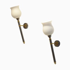 French Neoclassic Style Wall Sconces from Maison Jansen, 1940s, Set of 2