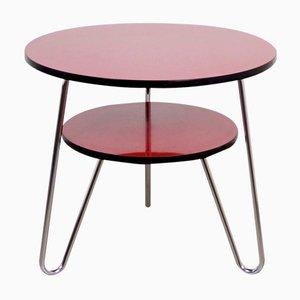 Table Basse Ronde à Deux Etages, Allemagne, 1950s