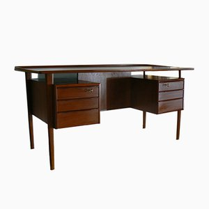 Danish Teak Desk by Peter Lovig-Nielsen for Dansk, 1970s