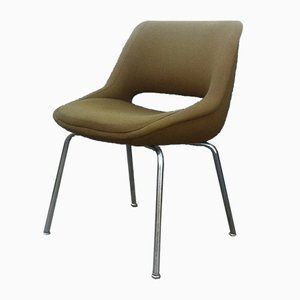 Mid-Century Olive Green Kilta Side Chair by Olli Mannemaa for Martela Oy